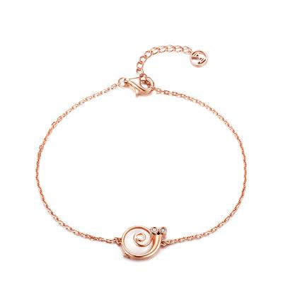 佐卡伊zocai 玫瑰18k金手链 钻石手链女时尚新款珠宝首饰送女友礼物蜗牛系列