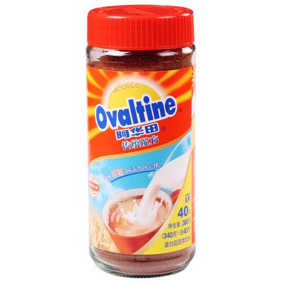 阿华田(Ovaltine)可可/巧克力冲饮 办公室早餐冲饮速溶 瓶装可可粉(340g+40g)