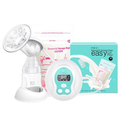【苏宁自营】新贝妈妈母乳喂养组合2件套 电动吸奶器8615+储奶袋8978