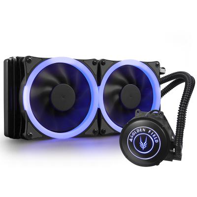 金河田蓝海240A冷排散热器台式机一体式水冷cpu散热器(多平台散热器/LED蓝色光风扇/静音)