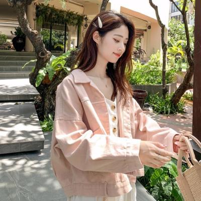 欣鴻茗秋季新款粉色牛仔外套女裝2020韓版學生大碼寬松長袖顯瘦洋氣上衣