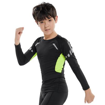18公主(SHIBAGONGZHU)兒童運動緊身衣訓練服男童籃球足球跑步速干打底透氣健身長袖