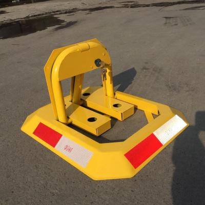 靜航(Static route)加厚手動八角型車位鎖 擋車鎖 加厚防撞 停車位鎖 地鎖黃色國產