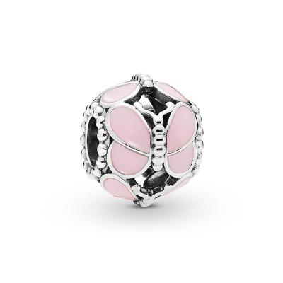 PANDORA潘多拉 粉色蝶群 925銀串飾 797855EN160