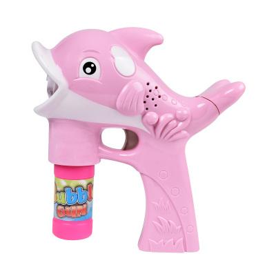 浴萌 YMENG 电动泡泡机吹泡泡枪器儿童玩具抖音泡泡棒七彩泡泡水补充液全自动海豚泡泡机【粉色充电版】