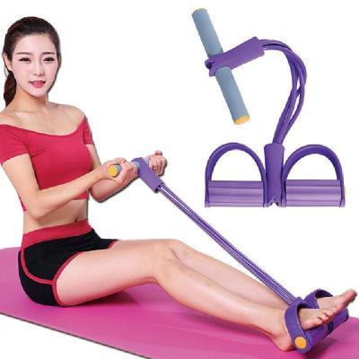 腳蹬拉力器仰臥起坐輔助健身器材家用拉力繩男女彈力繩 莎丞
