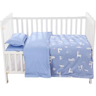 CottonTown 棉花堂 嬰兒床上用品四件套件 春夏款梭織純棉新生兒童床單套裝 2656