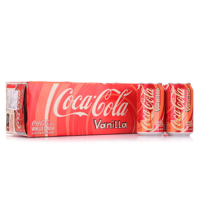 美国进口 可口可乐香草味可乐(Coca-Cola )香草口味汽水355ml*12罐 经典版 非 国产碳酸饮料水 多省免邮