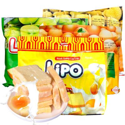 越南進口Lipo雞蛋牛奶面包干300g*3袋組合年貨包郵椰子味早餐奶酪餅干零食
