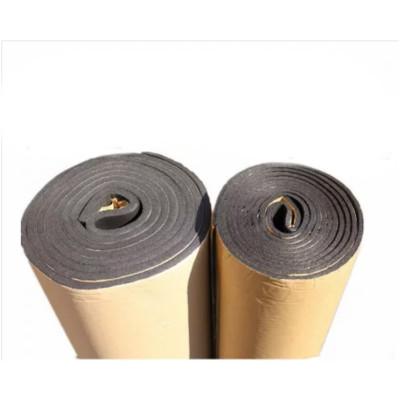 热卖高密度橡塑板隔热板隔音棉管道保温棉防冻自粘海绵 5毫米/卷