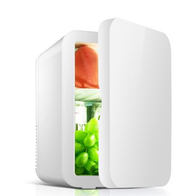 先科(SAST)8L電子冰箱車載冷熱箱 迷你 禮品冰箱 化妝品母乳牛奶冷藏 半導體制冷 家車倆用 環保材質 純白