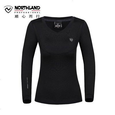 諾詩蘭(NORTHLAND)功能內衣褲戶外秋冬女式防風彈力保暖內衣功能內層上裝GU992026