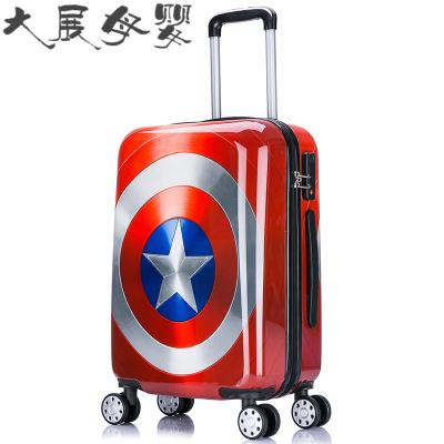 16寸卡通学生拉杆箱万向轮可爱儿童行李箱男旅行箱密码20寸登机箱
