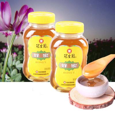 冠生园蜂蜜百花蜜500gx2瓶装组合装液态蜜上海特产