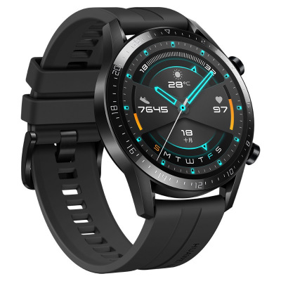 HUAWEI/华为 WATCH GT 2 曜石黑(46mm)麒麟芯片强劲续航蓝牙通话运动智能手表