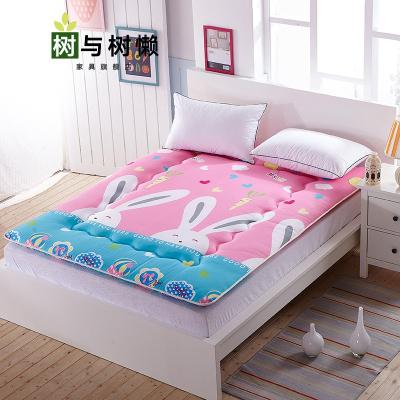 树与树懒 新品折叠床垫地铺折叠1单人1.2床垫被褥1.0m学生宿舍0.8X1.9一米90寝室打地铺睡垫