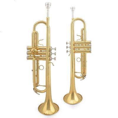星海 金音小号 降B调 JYTR-E100G 漆金黄铜小号乐器
