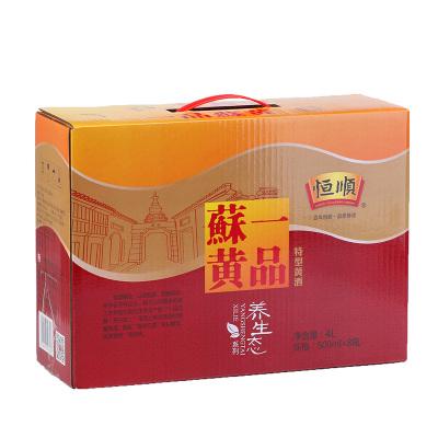 恒顺黄酒一品苏黄特型黄酒整箱500ml8瓶装养生态黄酒