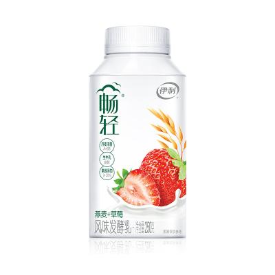 伊利 暢輕酸奶風味發酵乳低溫酸牛奶果味酸奶暢輕草莓味1瓶250g