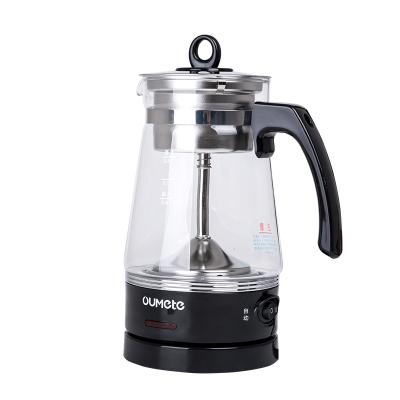 欧美特(OUMETE)M-PC0605C煮茶器煮茶壶黑茶花茶壶蒸汽自动电茶壶泡茶养生壶便携501-600ml高硼硅玻璃