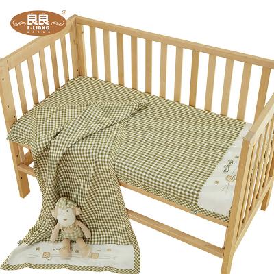 良良婴幼儿纯苎麻保健凉席(加大)绿 LLB01-2G