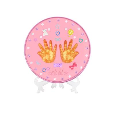 怡多贝EVTTO 宝宝手足印泥手脚印泥套装新生儿0-3岁铁盒创意纪念品厂家直销