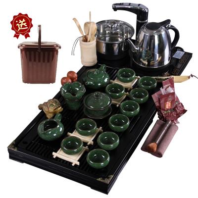唐宏坊 冰裂馬盤茶具套裝 整套茶具 唐宏坊電熱爐茶具套裝 茶具 冰裂 整套功夫茶具套裝 陶瓷茶具茶盤款式三