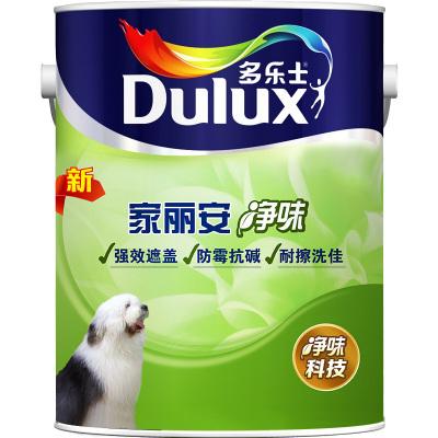 多樂士(Dulux)家麗安凈味乳膠漆內墻面漆 油漆涂料 A991 5L 啞光白色