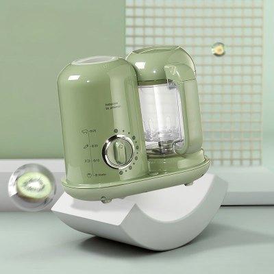 babycare 寶寶輔食機料理機 蒸煮攪拌一體機 攪拌機嬰兒迷你輔食機爵士綠-定時款 4526