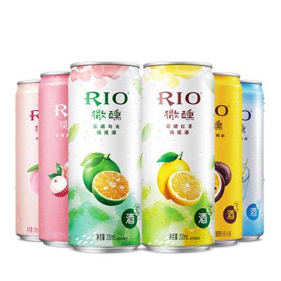 【周冬雨同款】RIO銳澳預調雞尾酒女士微醺果味酒6口味330ml*6罐洋酒正品整箱