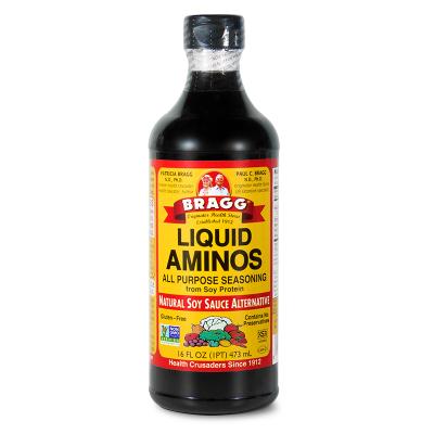 美國進口 布拉格BRAGG氨基酸醬油 兒童調味品料 大人小孩均可食用1瓶473ml