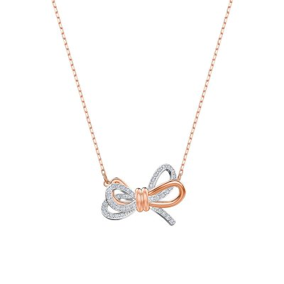 Swarovski 施华洛世奇 女士浪漫永恒蝴蝶结时尚人造水晶项链 5440636