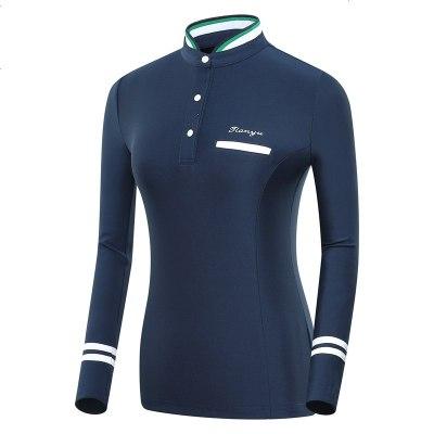 高尔夫服装 女士长袖球服T恤 秋冬新款立领运动衣服 学院风韩风衣