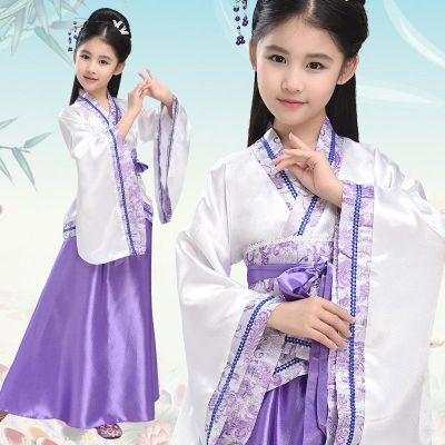 BPMA兒童古裝女唐裝漢服女童小仙女服表演服古箏演奏服兒童古代貴妃服