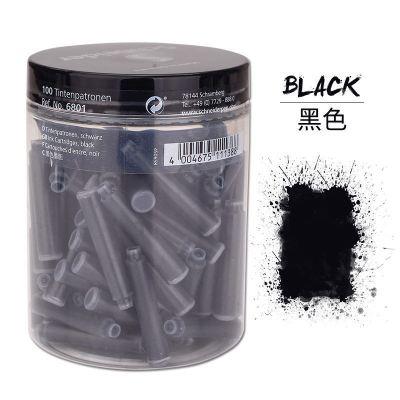德國進口Schneider施耐德鋼筆墨囊學生專用 一次性2.6mm口徑非碳素墨水膽黑色