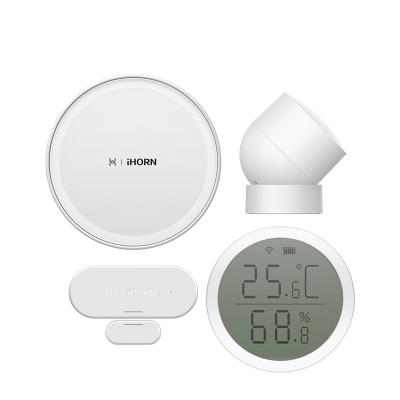 華為 HUAWEI 智選生態產品 豪恩智能安防家庭套裝(多功能網關+人體傳感器+門窗傳感器+溫濕度傳感器)