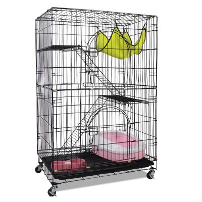 憨憨宠 猫笼别墅二层三层猫咪宿舍大号折叠双层猫笼子便携猫窝猫舍宠物房子