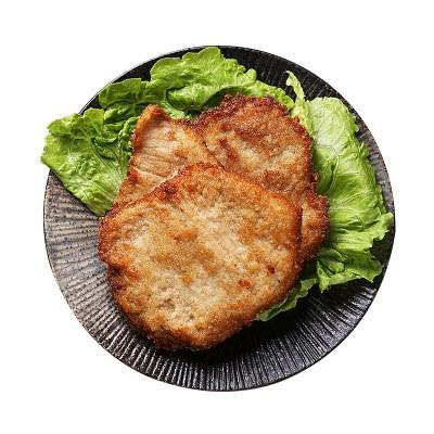 絕世黃金炸豬排半成品豬扒大排豬肉排冷凍香煎豬排油炸小吃1000g 贈薯條