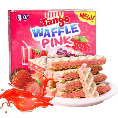 奧朗探戈Tango 咔咔脆威化休閑餅干(草莓味)80g 進口 糖巧 巧克力 夾心餅干 威化 休閑零食