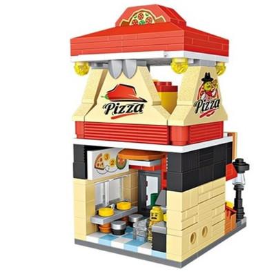 LOZ/俐智小颗粒积木迷你街景益智拼插儿童玩具拼装模型男女孩披萨店1628