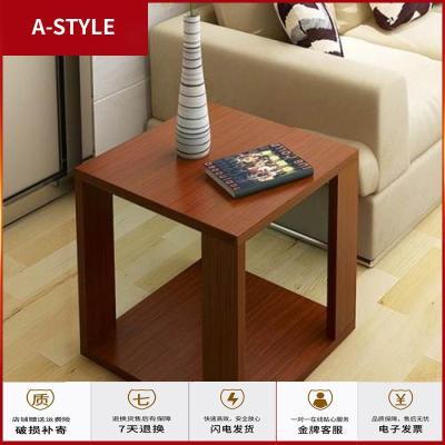 蘇寧放心購床頭柜辦公室沙發邊幾黑色配套床頭桌小戶型正方形邊柜小茶幾A-STYLE