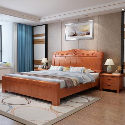 塞納左居(Sena Zuoju) 床 現代簡約經濟型1.5米雙人床木質箱框床儲物大床氣壓床 1.8米實木床中式主臥大婚床