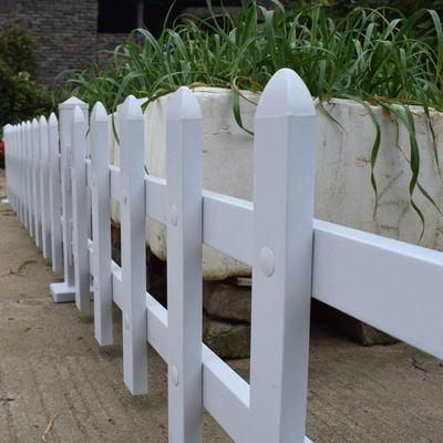 HOTBEE阳光铁艺PVC塑钢花园围栏栅栏 篱笆草坪护栏庭院子装饰花池栅栏