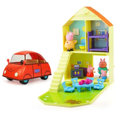 小豬佩奇 兒童男女孩過家家場景玩具親子互動角色扮演歡樂家庭套裝新年送禮生日禮物