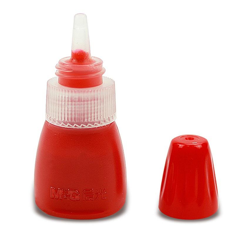 晨光(M&G)AYZ97509红色10ml光敏印油3个 财务印章印台专用油性 办公用品 印台/印泥/印油