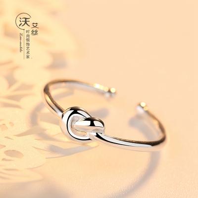 【正常發貨】沃艾絲 銀戒指女開口手工創意愛心個性復古指環日韓潮流簡約女士禮物飾品