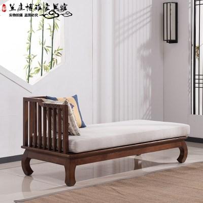枳记家 新中式实木沙发组合禅意罗汉床贵妃塌现代客厅民宿别墅家具定制