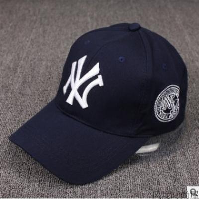 帽子男女春夏秋季户外防晒休闲运动帽旅游NY太阳帽沙滩棒球帽 藏青色_可调节