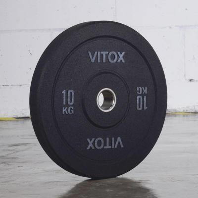 杠鈴片奧林匹克高彈訓練杠鈴不銹鋼中圈黑色全膠訓練片體工隊訓練【定制】 25KG一片