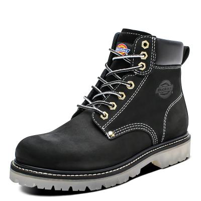 Dickies男鞋秋冬新款馬丁靴男英倫風真皮復古工裝靴高幫大頭皮靴194M50LXS80